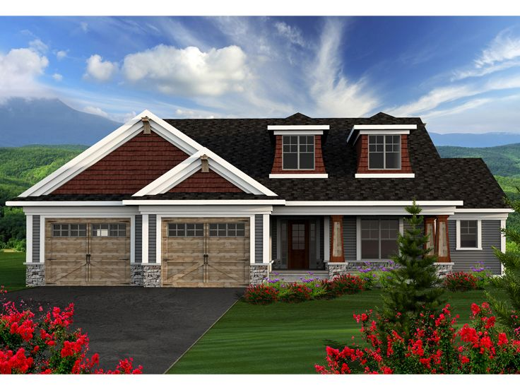 Empty-Nester House Plan, 020H-0345