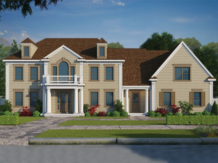 Colonial House Plan, 031H-0278