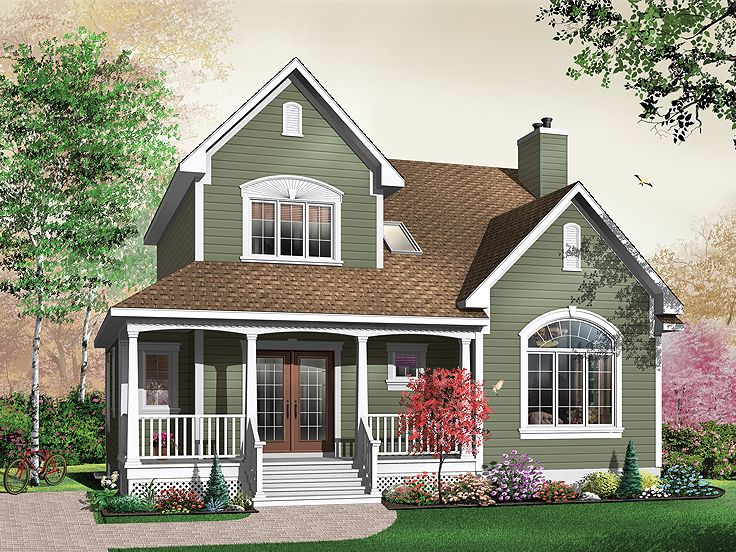 Narrow Lot Home Plan, 027H-0172