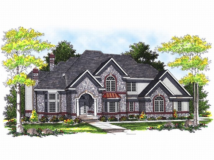 Luxury Home Plan, 020H-0038