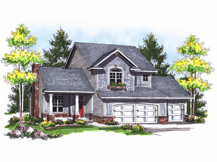 2-Story Home Plan, 020H-0120