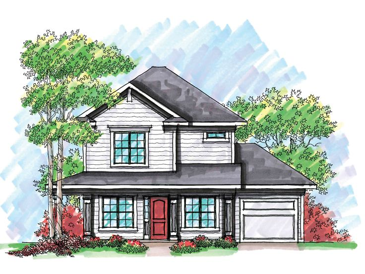 Two-Story House Plan, 020H-0204