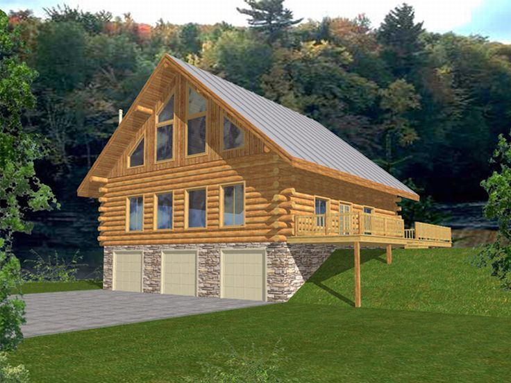 Log House Plan, 012L-0037