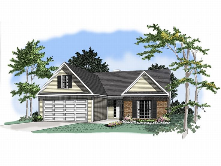 Ranch House Plan, 019H-0129