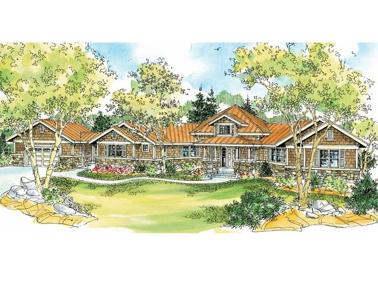 Craftsman Home Plan, 051H-0045