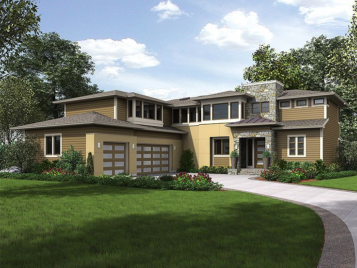 Contemporary Home Plan, 035H-0140