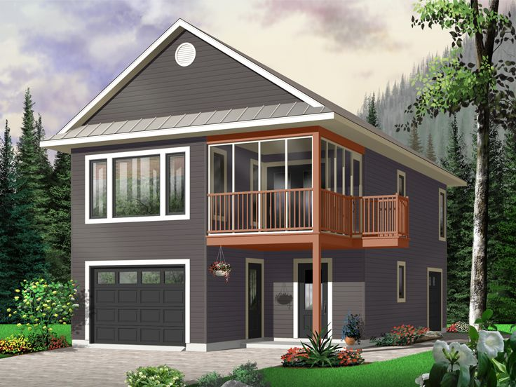 Garage Apartment Plans | Carriage House Plan with Tandem Bay ...