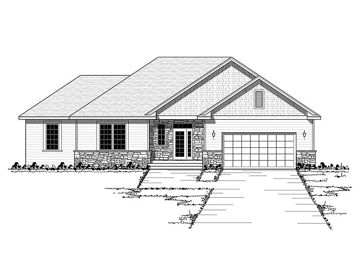 Sloping Lot House Plan, 023H-0153
