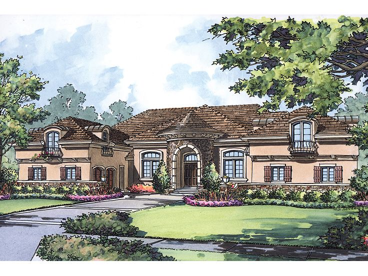 Luxury Home Plan, 043H-0233
