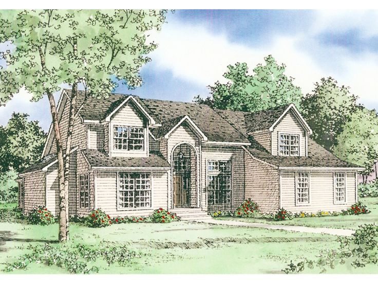 2-Story Home Plan, 009H-0037