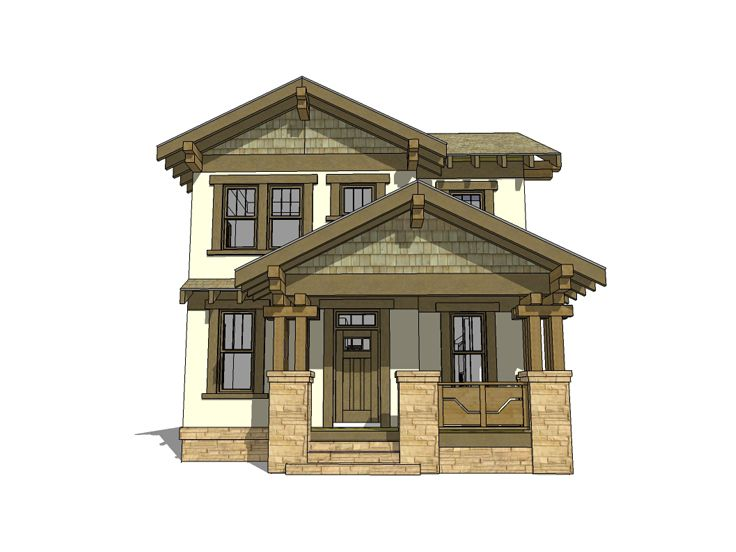 Craftsman Home, 052H-0102