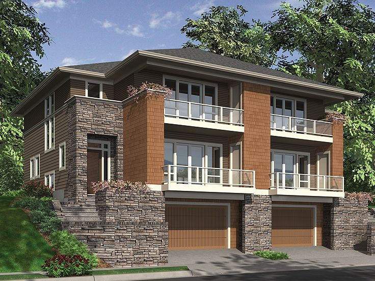 Plan 034m 0023 find unique house plans home plans and for Multi family condo plans