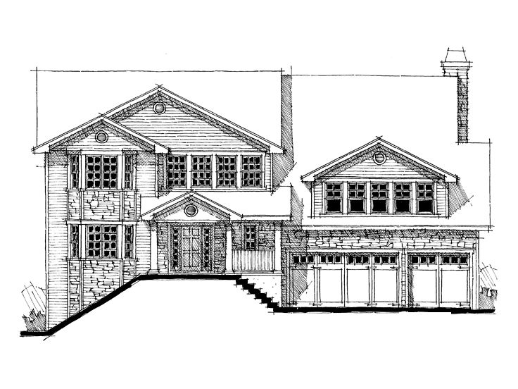 Two-Story House Plan, 052H-0074