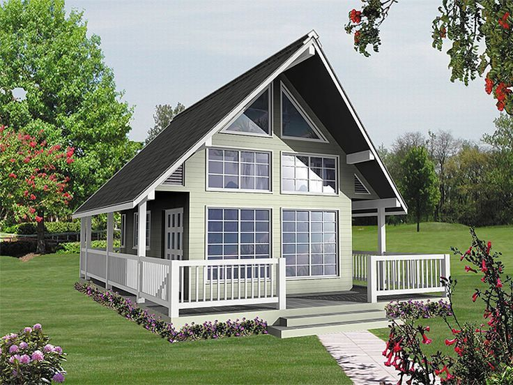 A-Frame House Plan, 010H-0001