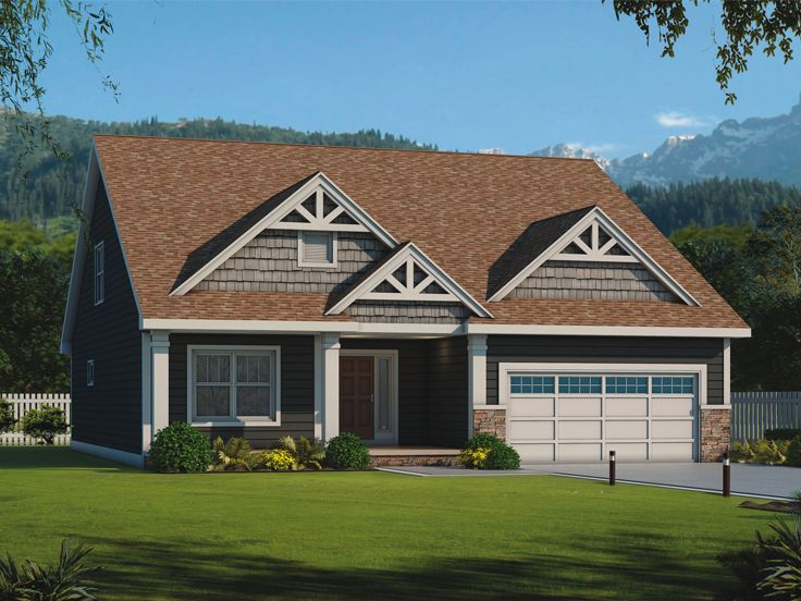 Bungalow House Plan, 031H-0329