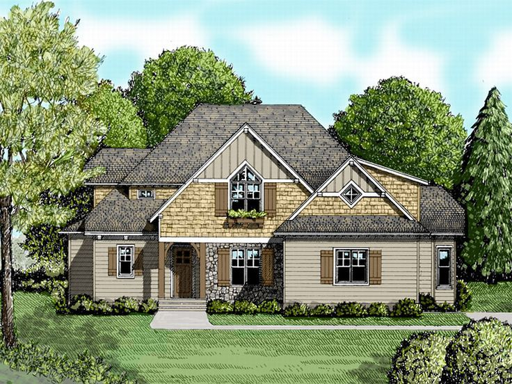 Two-Story Home Plan, 029H-0117