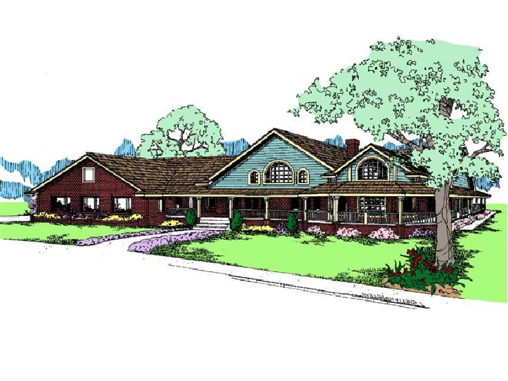 Country Ranch Home Plan, 013H-0098