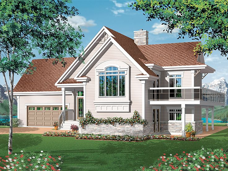 Mountain House Plan, 027H-0211