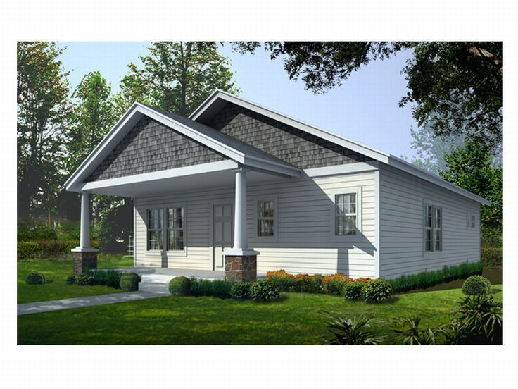 Narrow Lot House Plan, 018H-0002