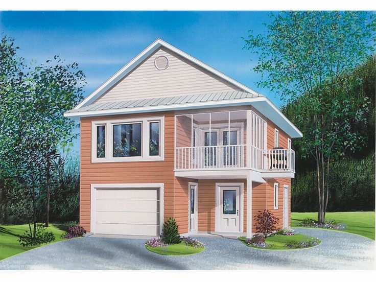 Garage apartment plans carriage house plan with tandem for Tandem garage