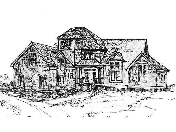 Coastal House Plan, 041H-0030