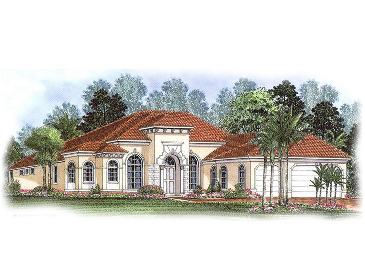 Mediterranean Home Plan, 037H-0007
