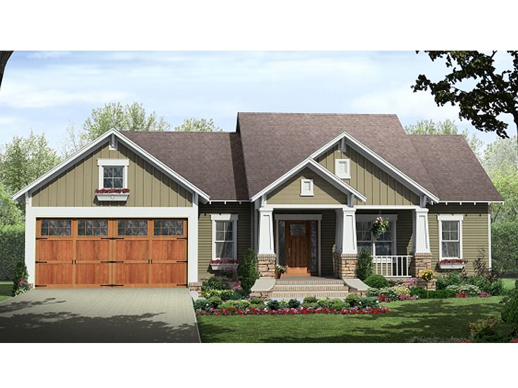 Small Craftsman Home, 001H-0124