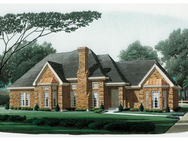 Traditional Home Plan, 054H-0123