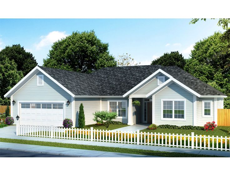 Small Ranch House Plan, 059H-0168