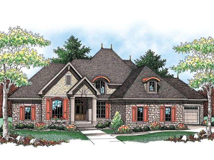 European House Plan, 020H-0195