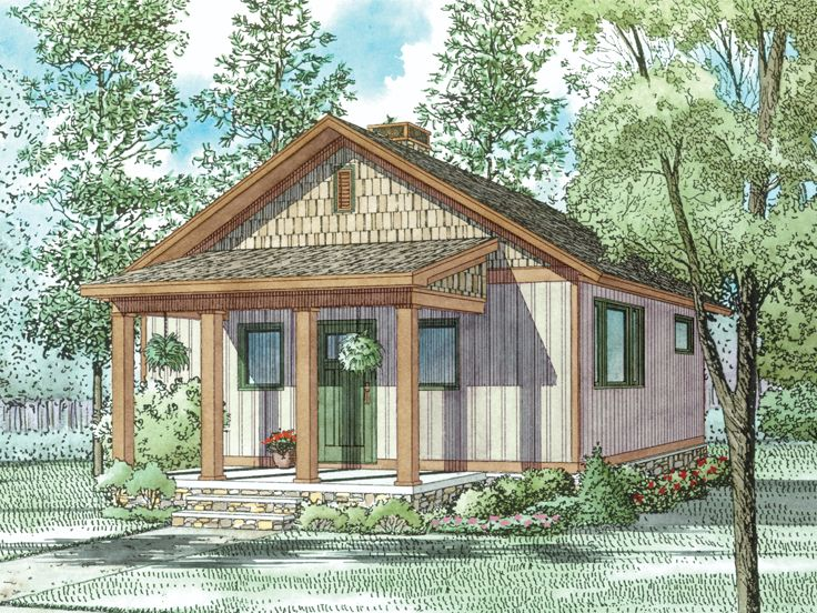 Cabin House Plan, 025H-0352