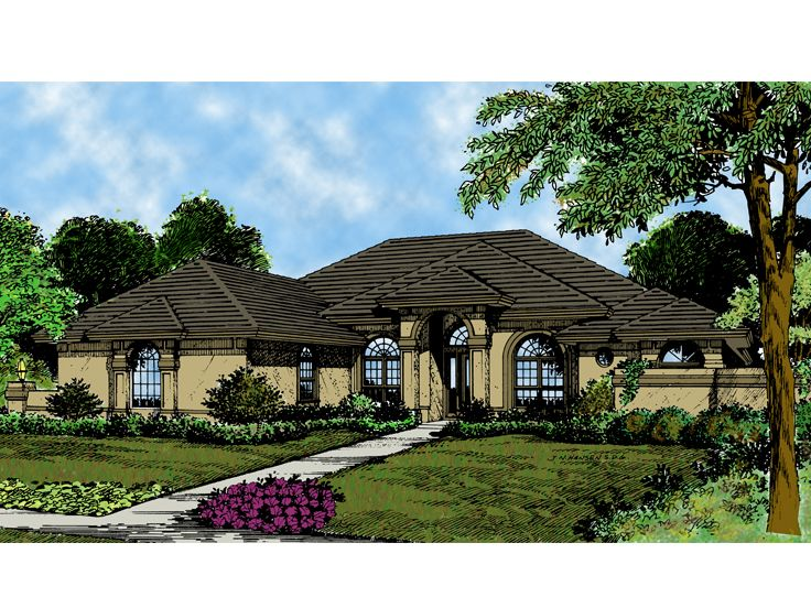 Mediterranean Home Plan, 043H-0101