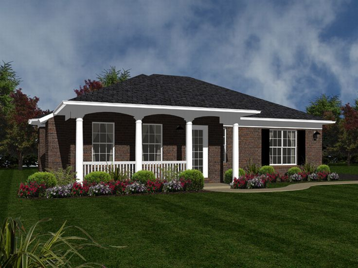 Narrow Lot House Plan, 004H-0092
