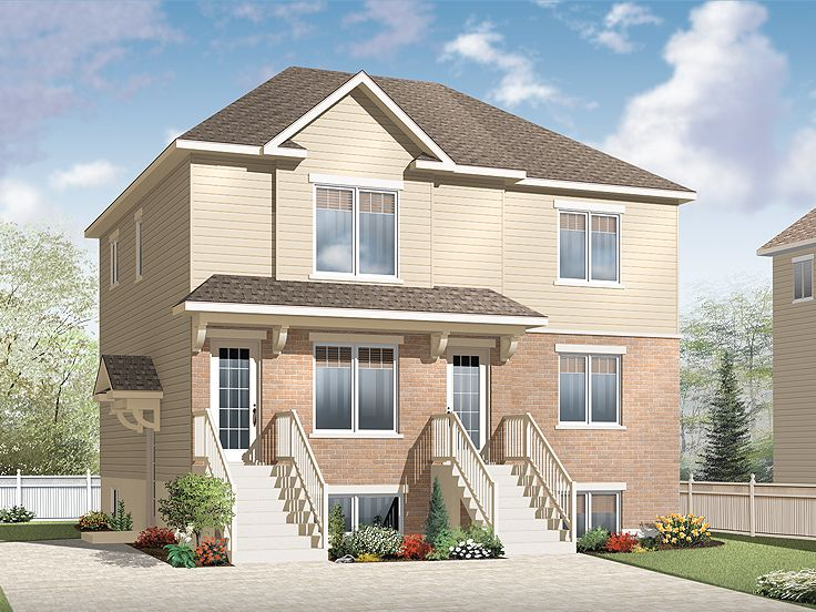 Triplex House Plan, 027M-0042
