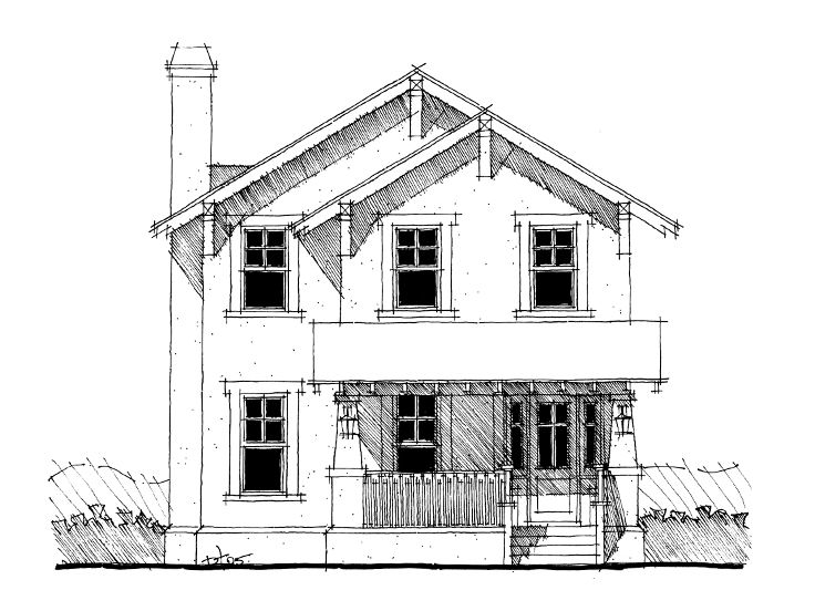Narrow Lot House Plan, 052H-0033