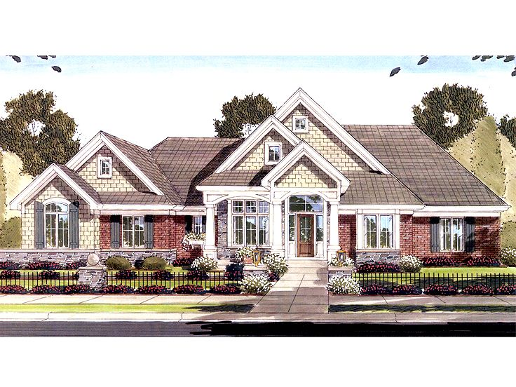 Ranch Home Plan, 046H-0041