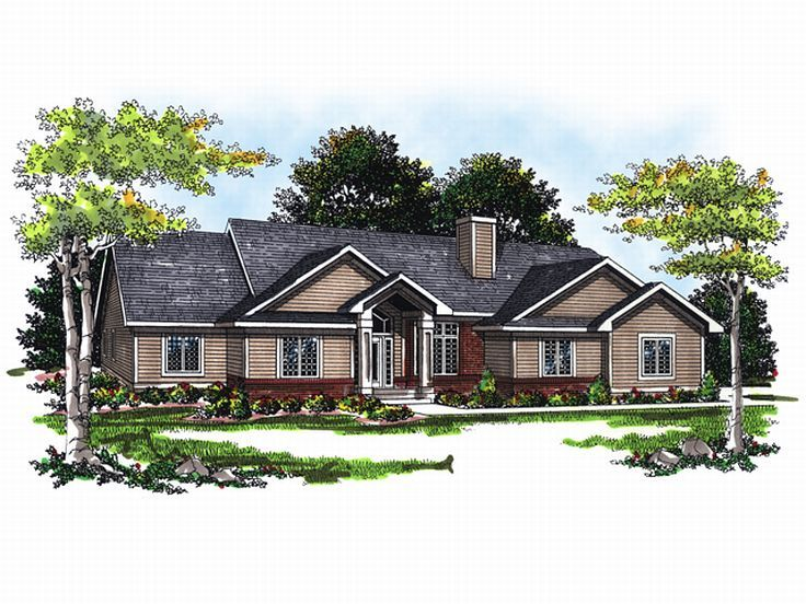 Ranch House Design, 020H-0028