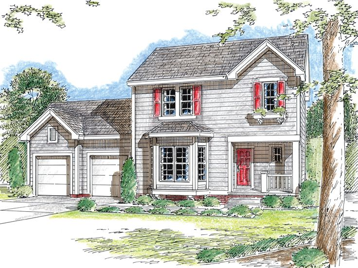 Plan 050h 0051 find unique house plans home plans and for Small two story house