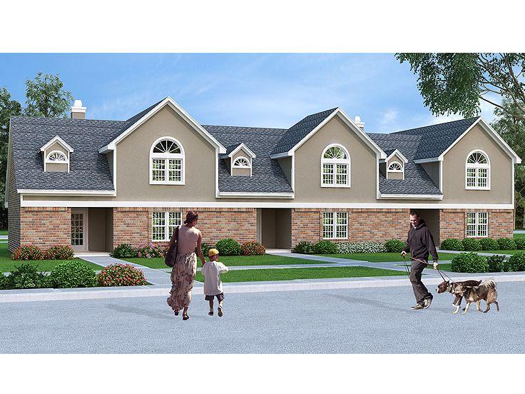 Multi-Family House Plans, Triplexes & Townhouses – The House Plan Shop