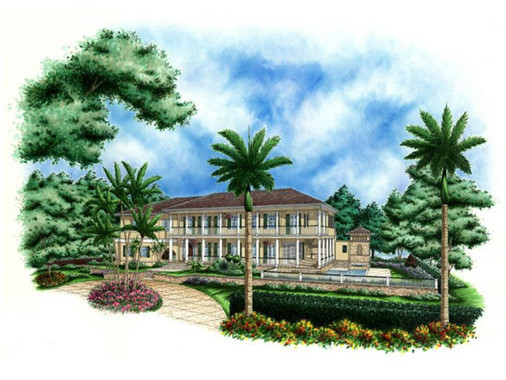 Luxury Home Plan, 037H-0037