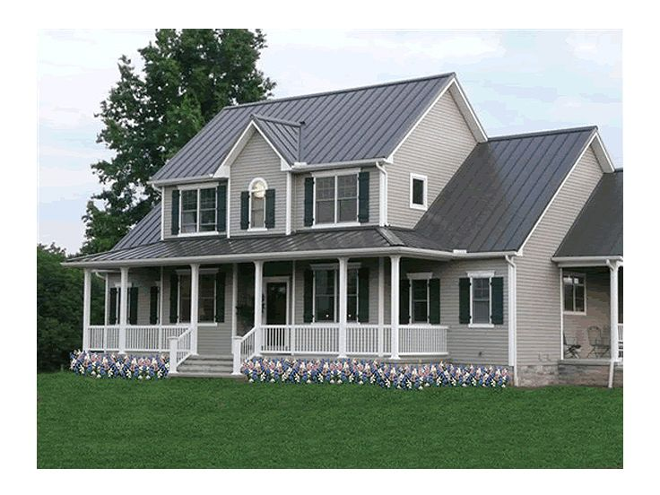 Farmhouse plans two story farmhouse plan with wrap for Two story farmhouse plans