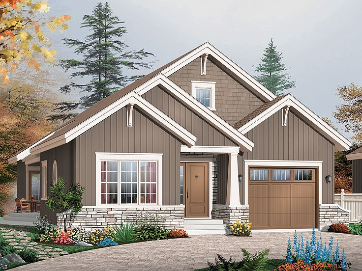 Bungalow House Plan, 027H-0245