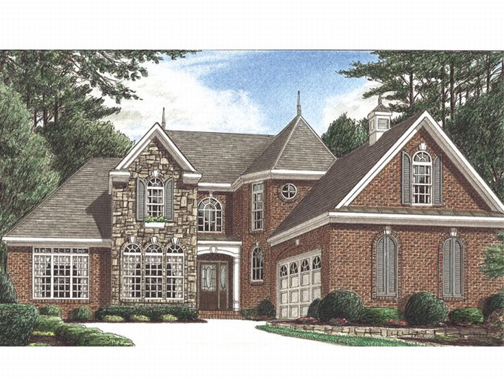 European House Plan, 011H-0020