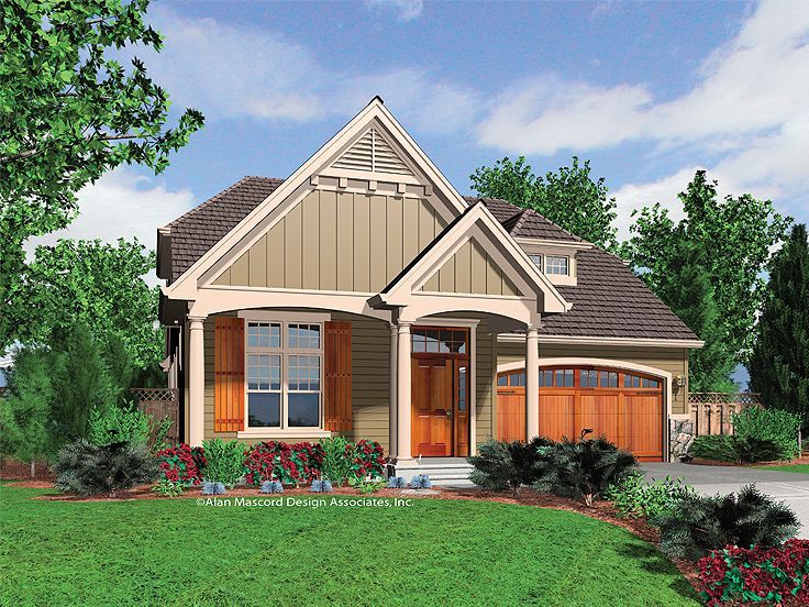 Narrow Lot House Plan, 034H-0176