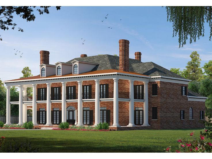 Southern Luxury House Plan, 031H-0237