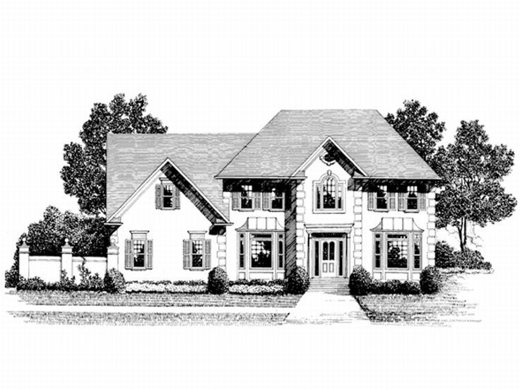 European House Plan, 007H-0057