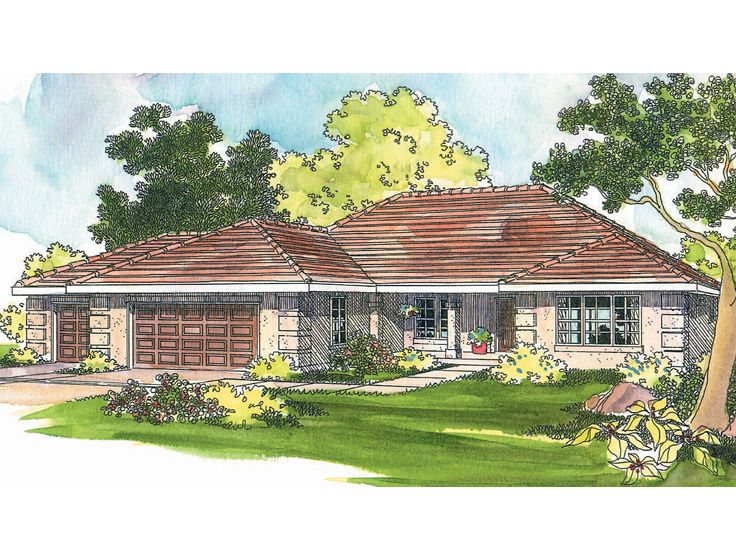 Sunbelt Home Plan, 051H-0062