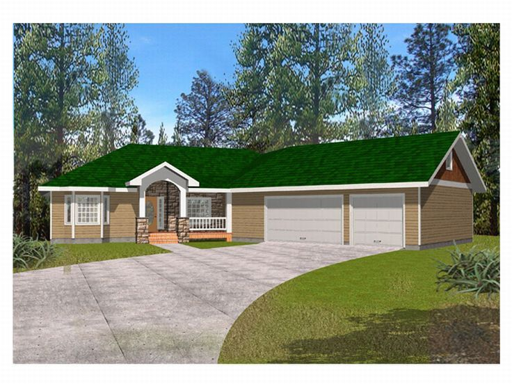 Ranch House Design, 012H-0050