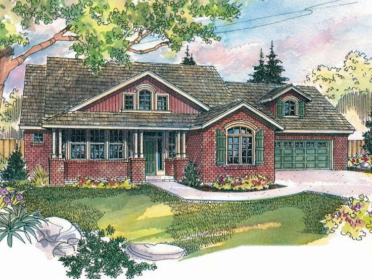 Two-Story House Plan, 051H-0039