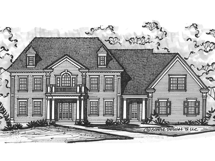 Two-Story House Plan, 031H-0278